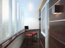 Кабинет на балконе в стиле минимализма