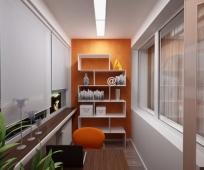 Интерьер кабинета на балконе