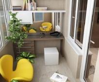 Мини-офис на балконе