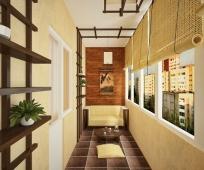 Оформление длинного и узкого балкона