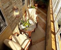 Декоративный камень и плитка в обустройстве балкона