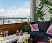 Оформление зоны отдыха на небольшом балконе