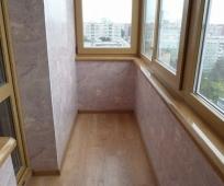 Отделка балкона декоративной штукатуркой