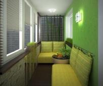 Диванная комната на балконе