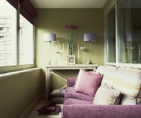Обустройство комнаты на балконе