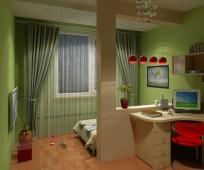 Комната для подростка, совмещенная с балконом