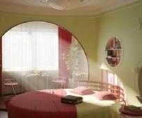 Дизайн, присоединенного к спальне, балкона