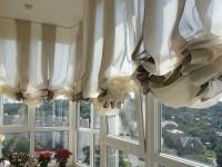 Дизайн штор на балконе